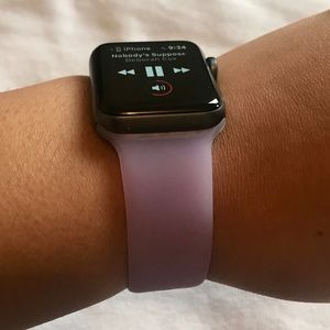 Purple Jelly Silicone Apple Watch Bands